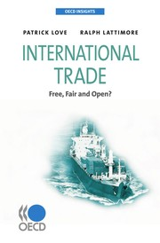 Cover of: International trade | Patrick Love