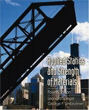 Applied statics and strength of materials by Leonard Spiegel