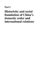 Cover of: China and international relations