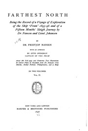 "Cover of: Farthest North: Being a Record of a Voyage of Exploration of the Ship ""Fram"" 1893-96, and of a ..."