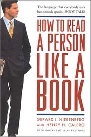 Cover of: How to Read a Person Like a Book | Gerard I. Nierenberg