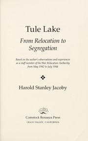 Cover of: Tule Lake | Harold S. Jacoby