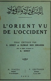 Cover of: L'Orient vu de l'Occident