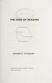 Cover of: The deed of reading