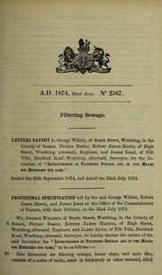 Cover of: Specification of George Willett, Robert James Harris, and James Lund | George Willett