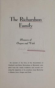 Cover of: The Richardson family, pioneers of Oregon and Utah | Mary Ellen Richardson Colby