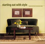Cover of: Starting Out With Style | Monica Millward Weeks