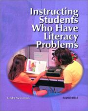 Cover of: Instructing students who have literacy problems