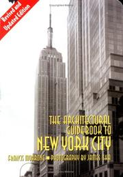 Cover of: The Architectural Guidebook to New York City | Francis Morrone