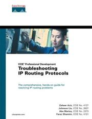 Cover of: Troubleshooting IP Routing Protocols |