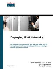 Cover of: Deploying IPv6 networks |