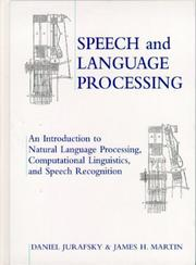 Cover of: Speech and language processing