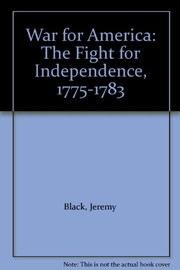 Cover of: War for America | Black, Jeremy.
