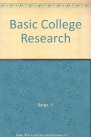 Cover of: Basic college research