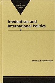 Cover of: Irredentism and international politics |