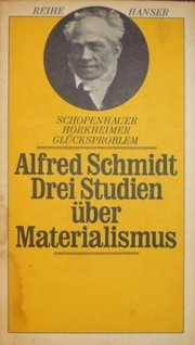 Cover of: Drei Studien über Materialismus