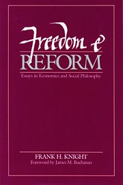 Cover of: Freedom and reform