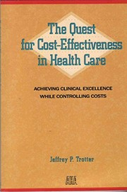 Cover of: The quest for cost-effectiveness in health care