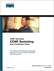 Cover of: Cisco CCNP switching exam certification guide | Tim Boyles