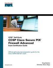 CCSP Cisco Secure PIX firewall advanced exam certification guide by Greg Bastien