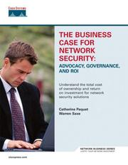 Cover of: business case for network security | Catherine Paquet