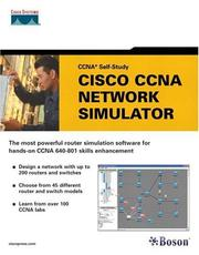 Cover of: Cisco CCNA Network Simulator (CCNA Self-Study, 640-801) | Boson Software Inc.