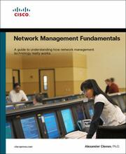 Network management fundamentals by Alexander Clemm