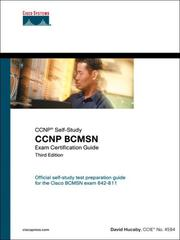 Cover of: CCNP BCMSN Exam Certification Guide | David Hucaby