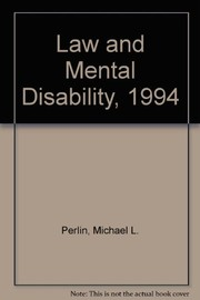 Cover of: Law and mental disability
