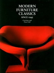 Cover of: Modern furniture classics since 1945