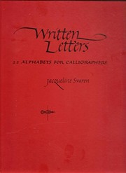 Cover of: Written letters | Jacqueline Svaren