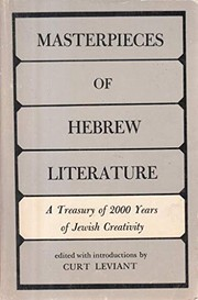 Cover of: Masterpieces of Hebrew literature