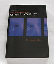 Cover of: The psychology of criminal conduct | D. A. Andrews