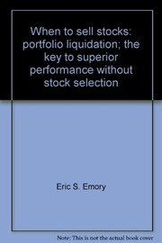 Cover of: When to sell stocks: portfolio liquidation