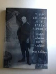 Cover of: Public culture in the early republic