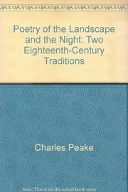 Cover of: Poetry of the landscape and the night: two eighteenth-century traditions