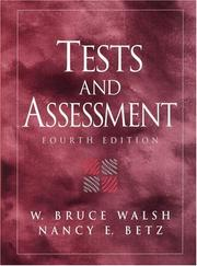 Cover of: Tests and Assessment (4th Edition) | W. Bruce Walsh