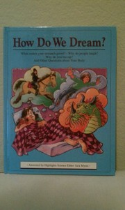 Cover of: How do we dream? | Jack Myers