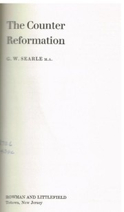 Cover of: The Counter Reformation | G. W. Searle