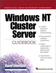 Cover of: Windows NT Cluster Server Guidebook