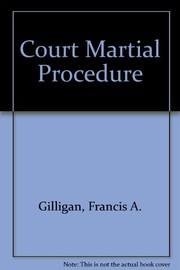 Cover of: Court-martial procedure