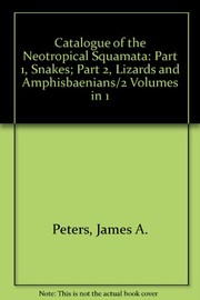 Cover of: Catalogue of the neotropical Squamata