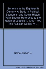 Cover of: Bohemia in the eighteenth century | Robert Joseph Kerner