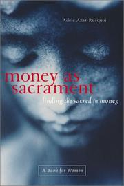 Cover of: Money As Sacrament | Adele Azar-Rucquoi