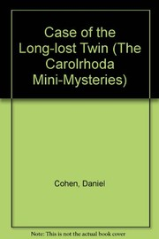 Cover of: The case of the long-lost twin