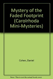 Cover of: The mystery of the faded footprint