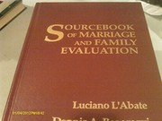 Cover of: Sourcebook of marriage and family evaluation | Luciano L