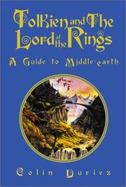 Cover of: Tolkien and the Lord of the rings