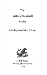 Cover of: The Victoria Woodhull reader