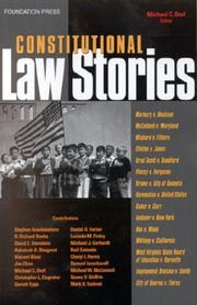 Cover of: Constitutional law stories by edited by Michael C. Dorf.
